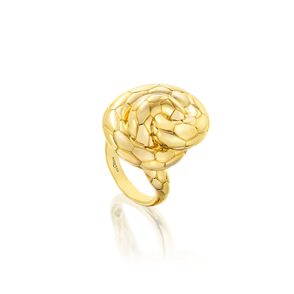 Ophidian Yellow Gold Knot Ring