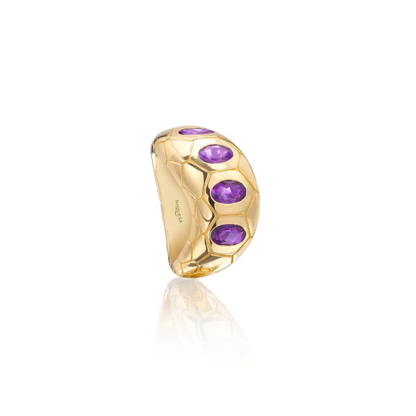 Ophidian Wide Amethyst Ring