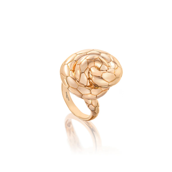 Ophidian Rose Gold Knot Ring