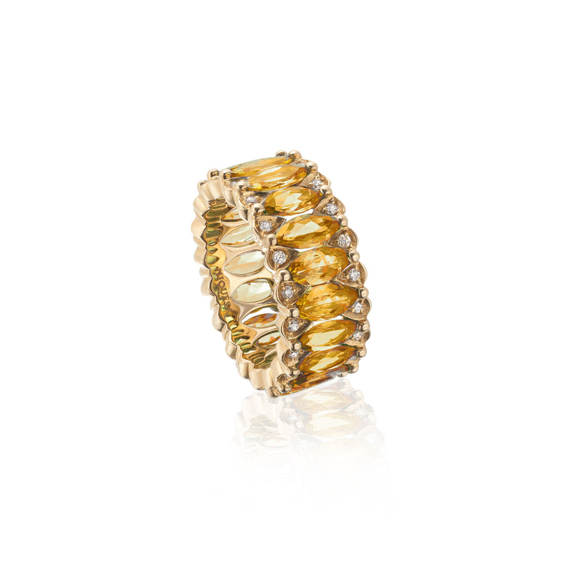 Amore Eternity Yellow Sapphire Ring