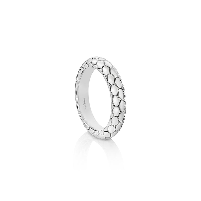 Ophidian White Gold Band Ring