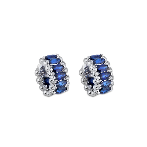 Amore Eternity Blue Sapphire Small Hoop Earrings