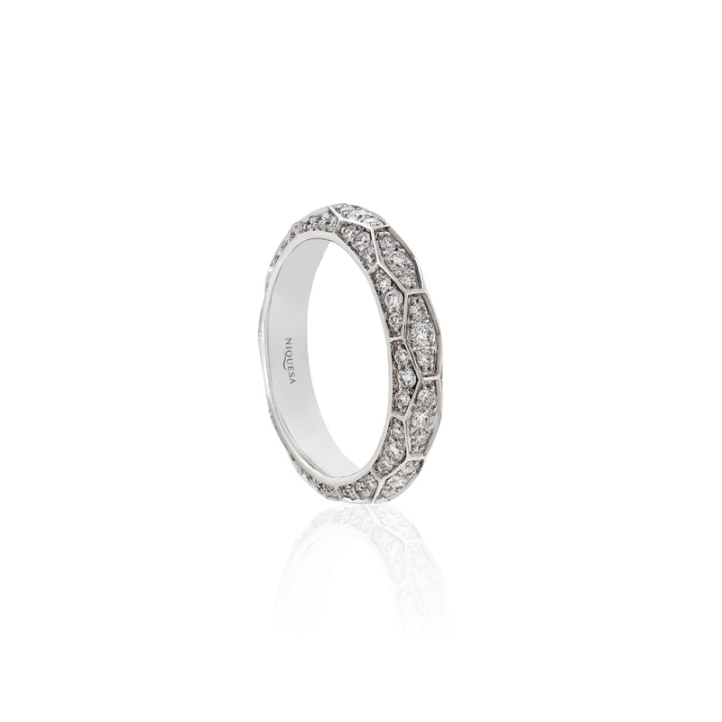 Ophidian White Gold and Diamond Band Ring