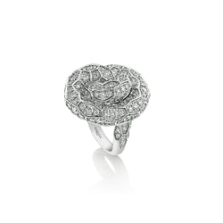 Ophidian White Gold Diamond Knot Ring
