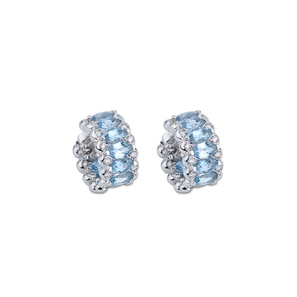 Amore Eternity Aquamarine Small Hoop Earrings