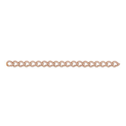 Kashmir Rose Gold and Diamond Chain Bracelet