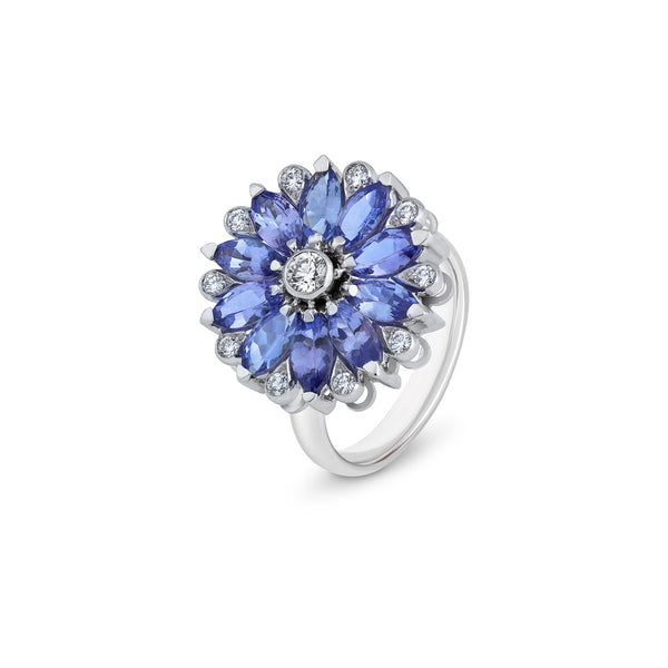 Amore Dalia Tanzanite Spinning Ring