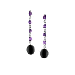 Venice Moretta Onyx Drop Earrings