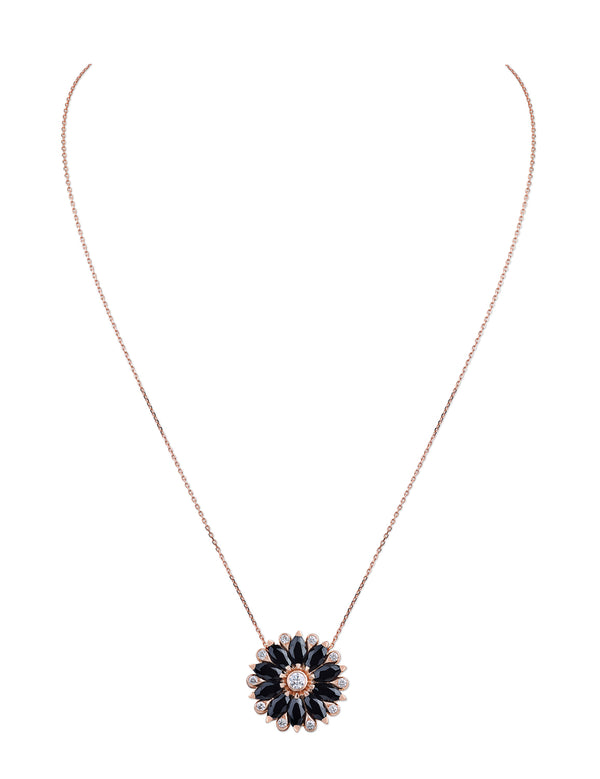 Amore Dalia Small Black Spinel Pendant