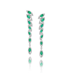 Petali Emerald Drop Earrings