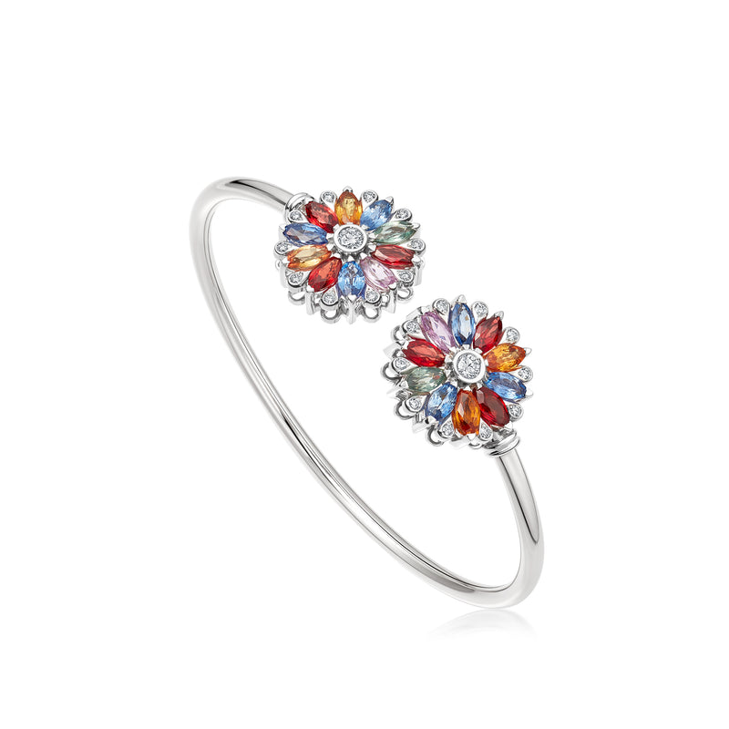 Amore Dalia Multicoloured Sapphire Bangle