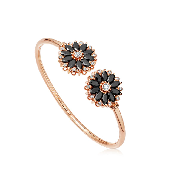 Amore Dalia Black Spinel Bangle