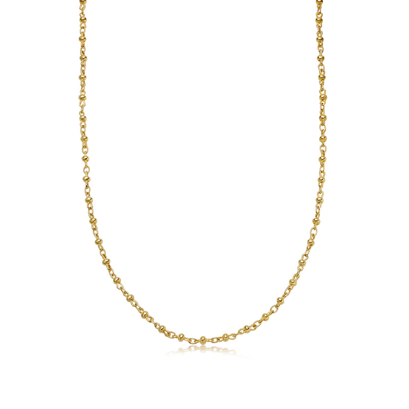 Handmade Ball Link Yellow Gold Necklace