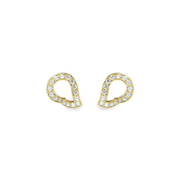 Kashmir Yellow Gold and Diamond Reverse Earrings