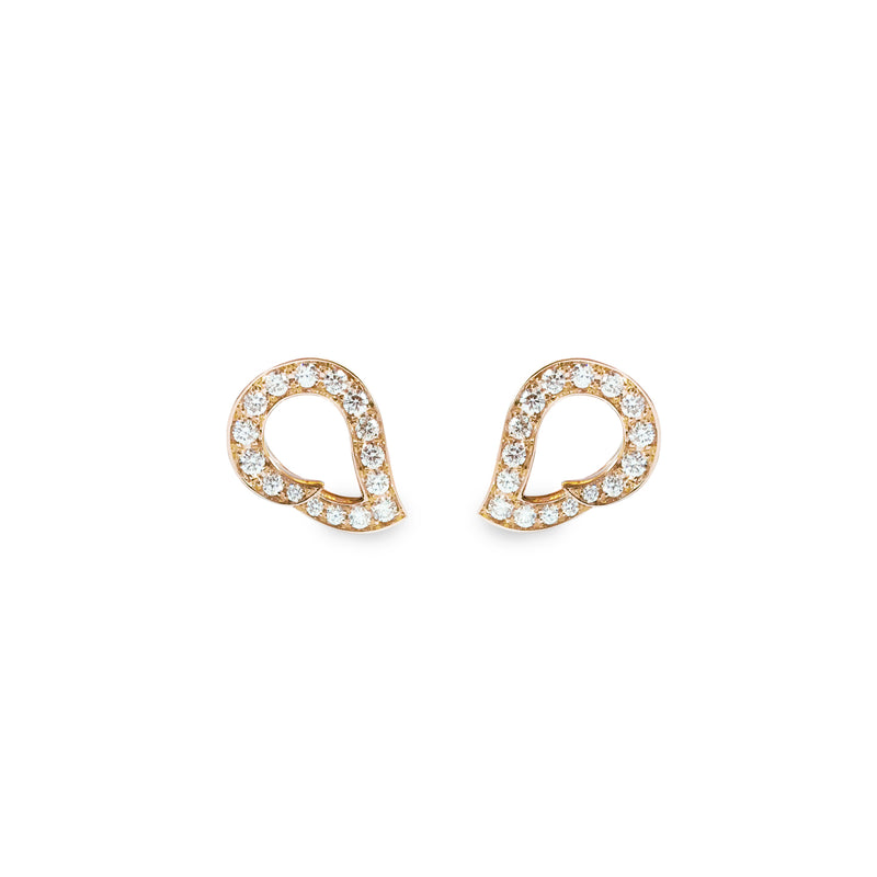 Kashmir Rose Gold and Diamond Reverse Earrings