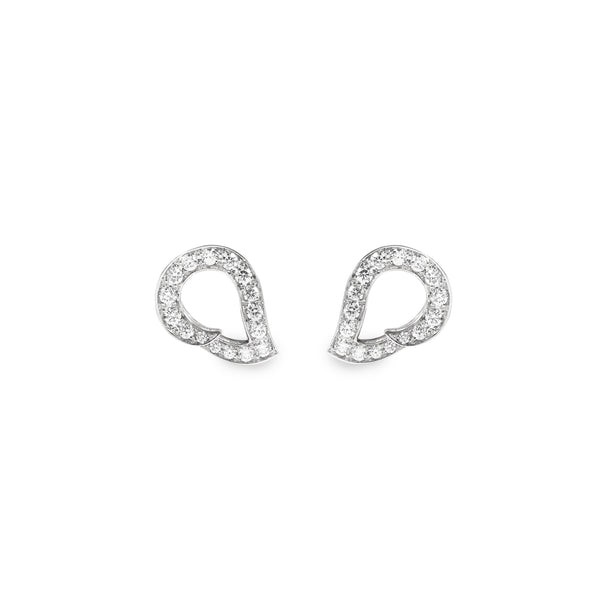 Kashmir White Gold and Diamond Reverse Earrings