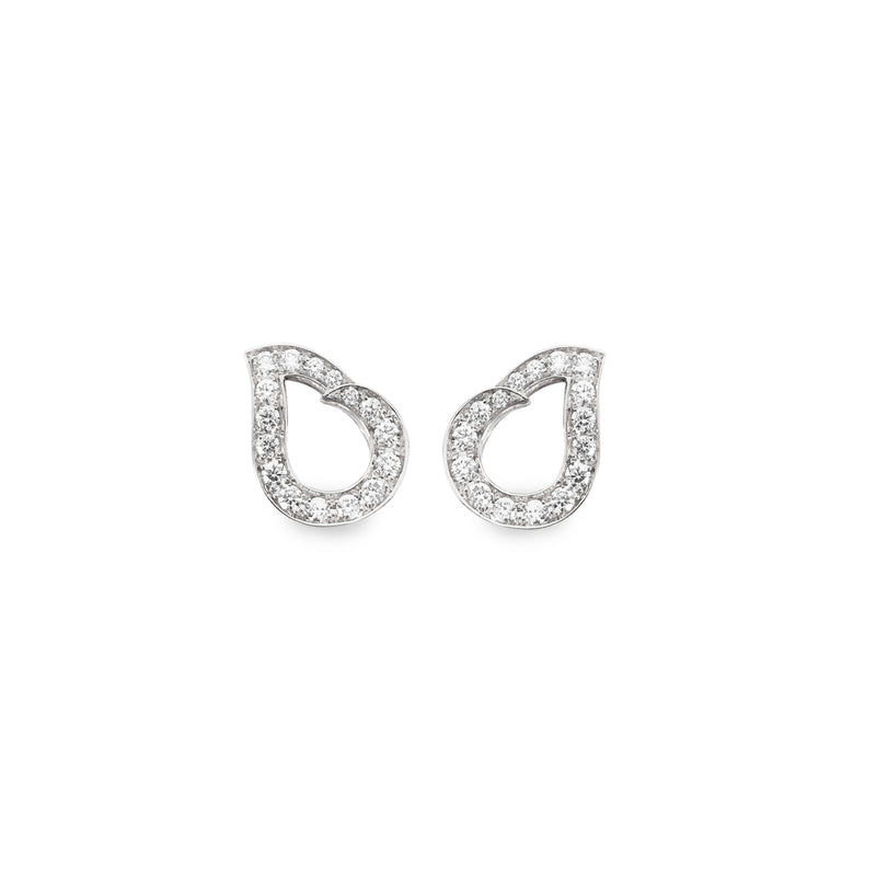 Kashmir White Gold and Diamond Earrings