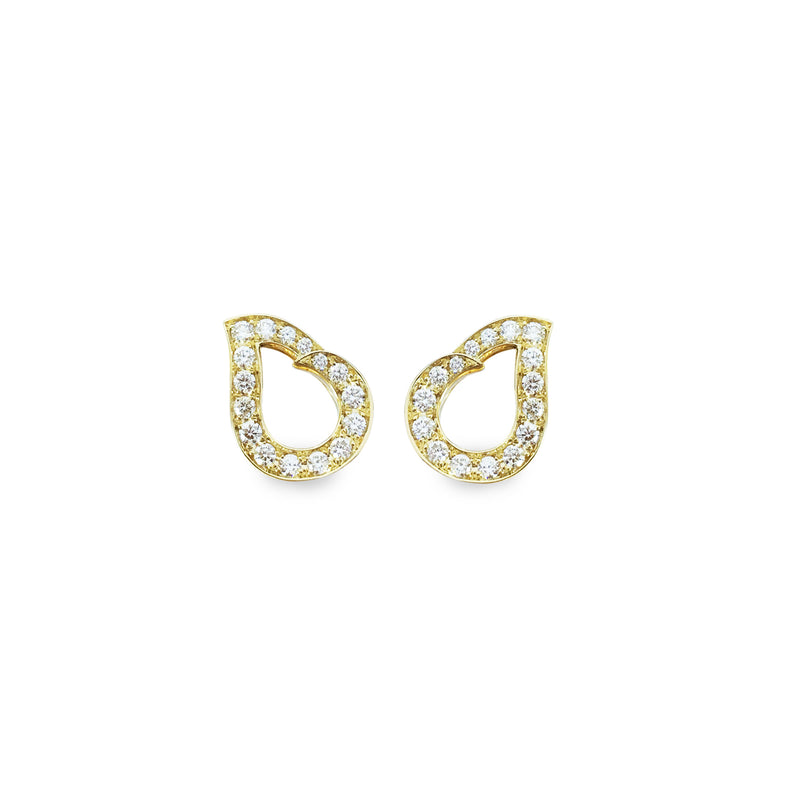 Kashmir Yellow Gold and Diamond Earrings