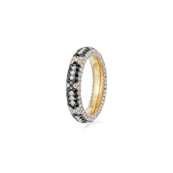 Starlight Infinity Small Yellow Gold Ring