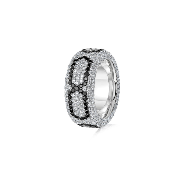 Starlight Infinity Large White Gold Ring