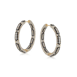 Starlight Infinity Large Yellow Gold Hoop Earrings