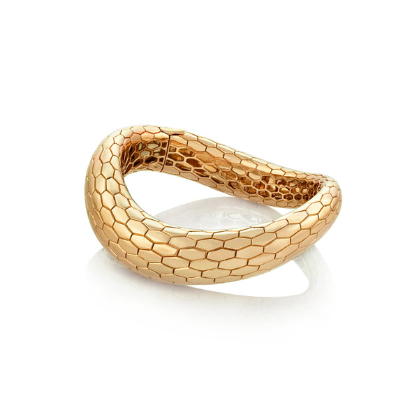 Ophidian Rose Gold Bangle