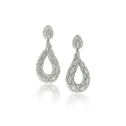 Ophidian White Gold Diamond Drop Earrings