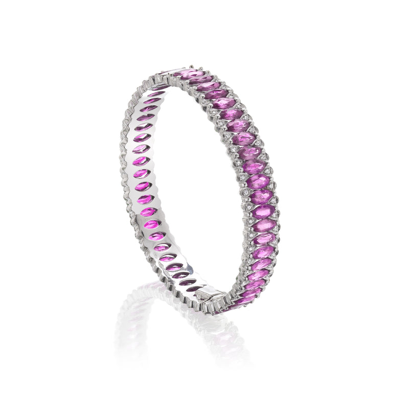 Amore Eternity Pink Sapphire Bangle
