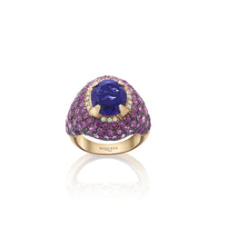 Venice Columbina Amethyst Ring with Amethyst and Tourmaline