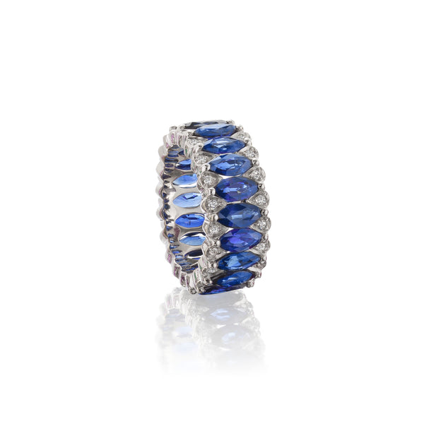 Amore Eternity Blue Sapphire Ring