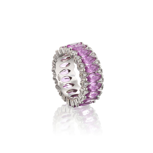Amore Eternity Pink Sapphire Ring