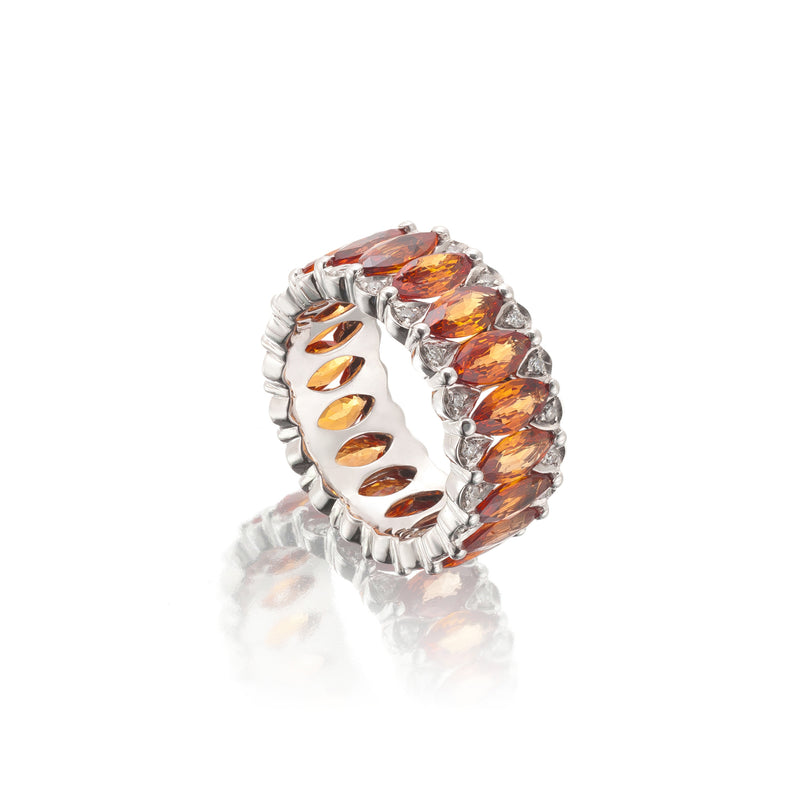 Amore Eternity Orange Sapphire Ring