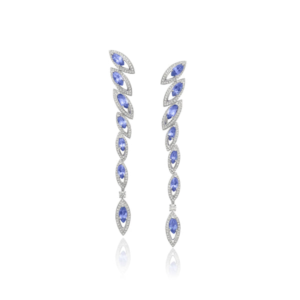 Petali Tanzanite Drop Earrings