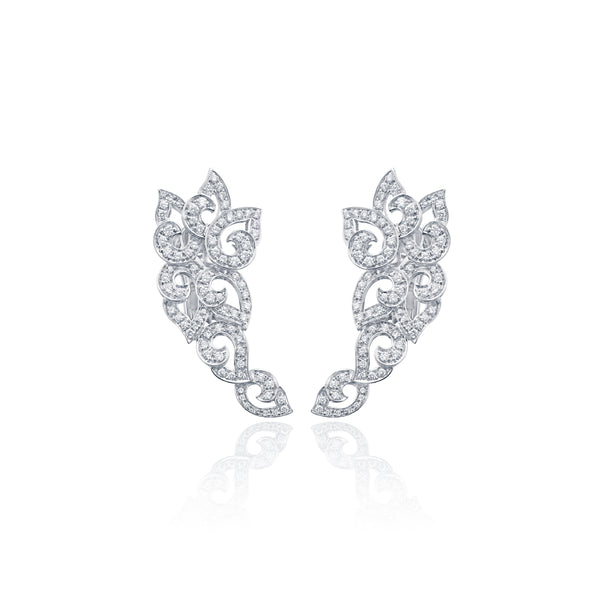 Kashmir Diamond Swirl Earrings