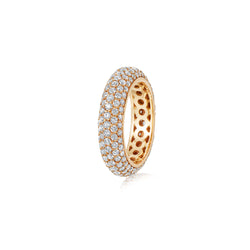 Starlight Five Row Diamond Yellow Gold Ring