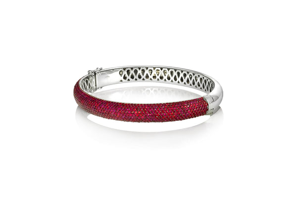 Starlight Ruby White Gold Bangle
