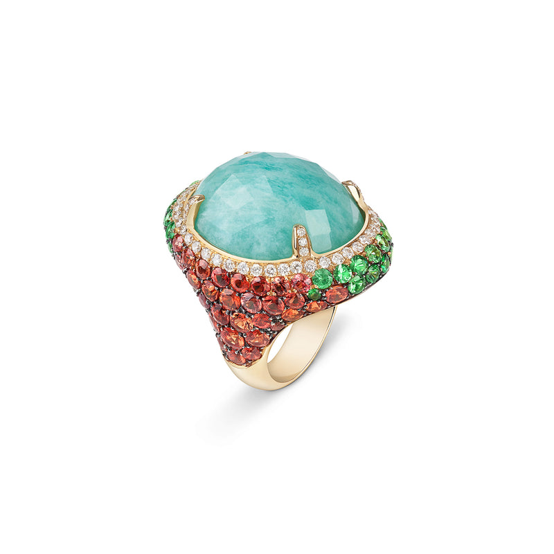 Venice Moretta Amazonite Ring