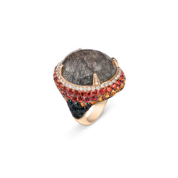 Venice Moretta Black Quartz Ring