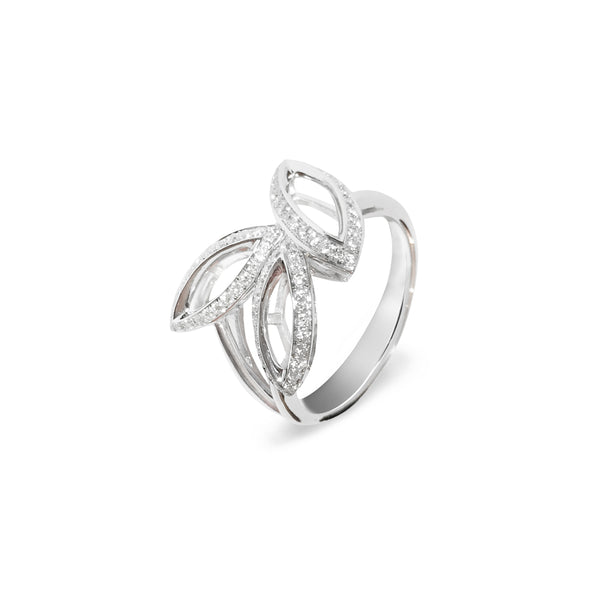 Petali  Diamond Flora Pave' Ring