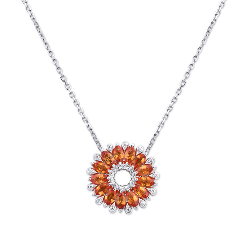 Amore Dalia Medium Orange Sapphire Pendant