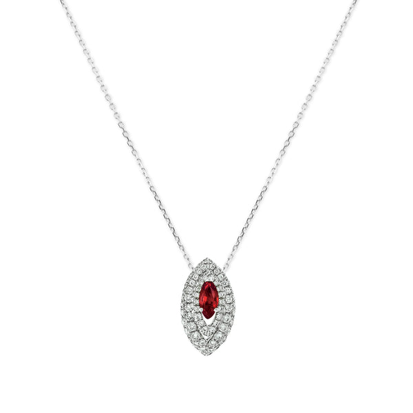 Gemma Ruby and Diamond Pave' Pendant