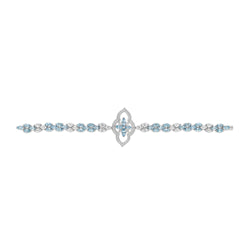 Stella Aquamarine and Diamond Bracelet