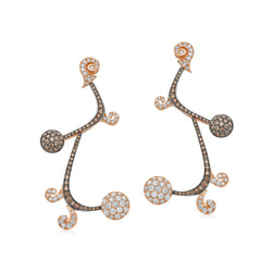 Signature Sakura Brown and Champagne Diamond Earrings