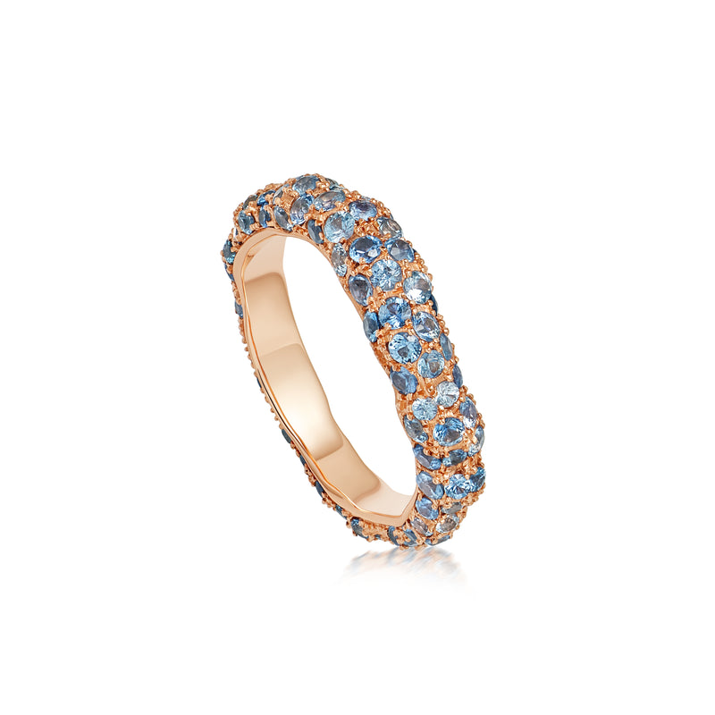Starlight Roma Rose Gold Blue Sapphire Ring