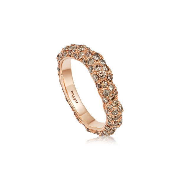 Starlight Roma Rose Gold Brown Diamond Ring