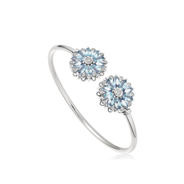 Amore Dalia Aquamarine Bangle