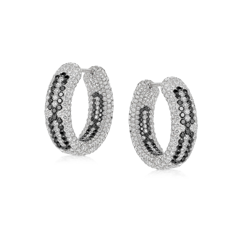 Starlight Infinity Medium White Gold Hoop Earrings