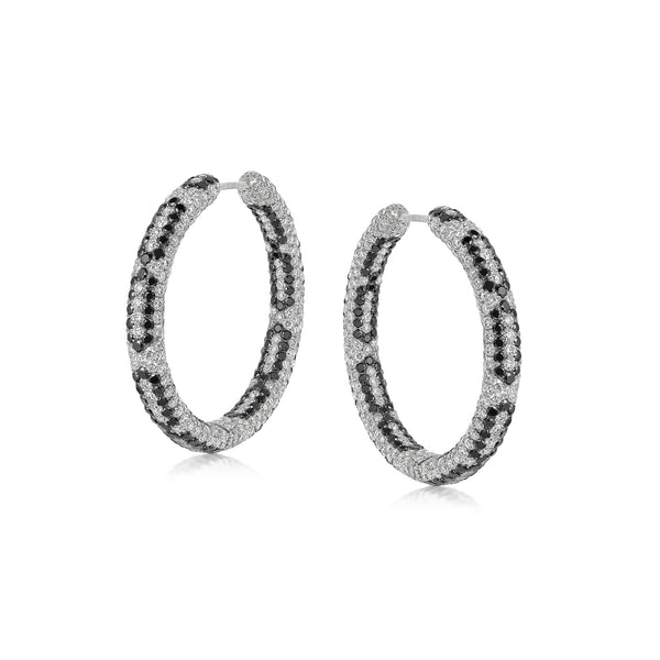 Starlight Infinity Large White Gold Hoop Earrings