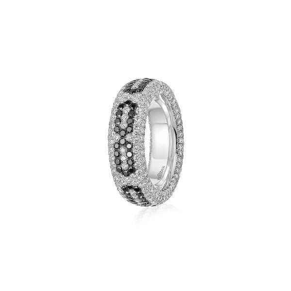Starlight Infinity Medium White Gold Ring