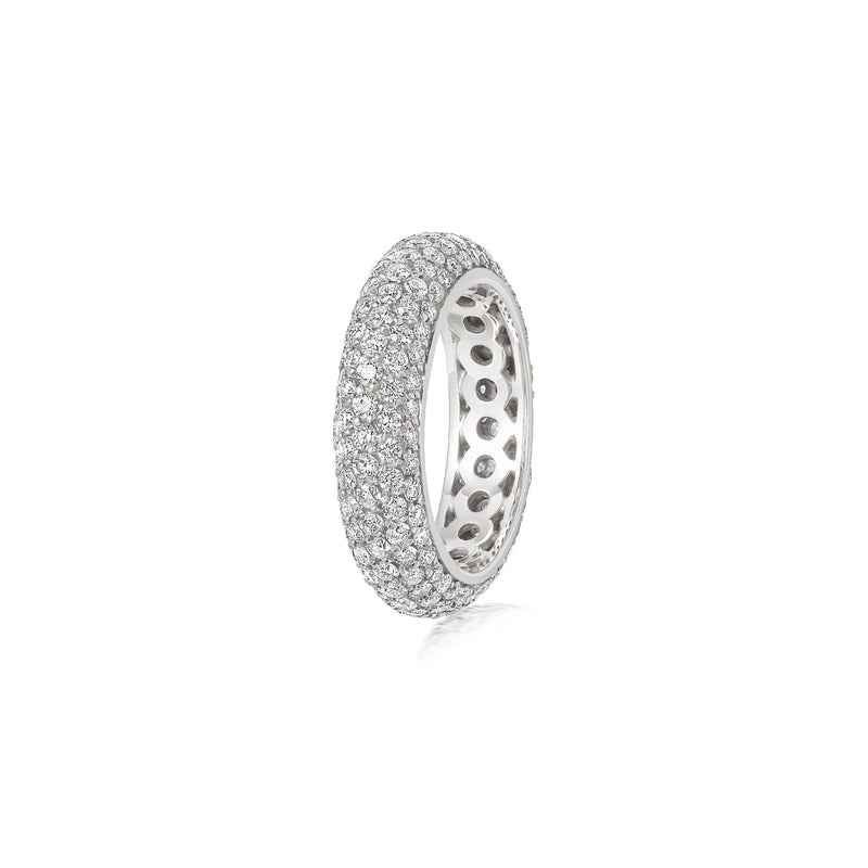 Starlight Five Row Diamond White Gold Ring